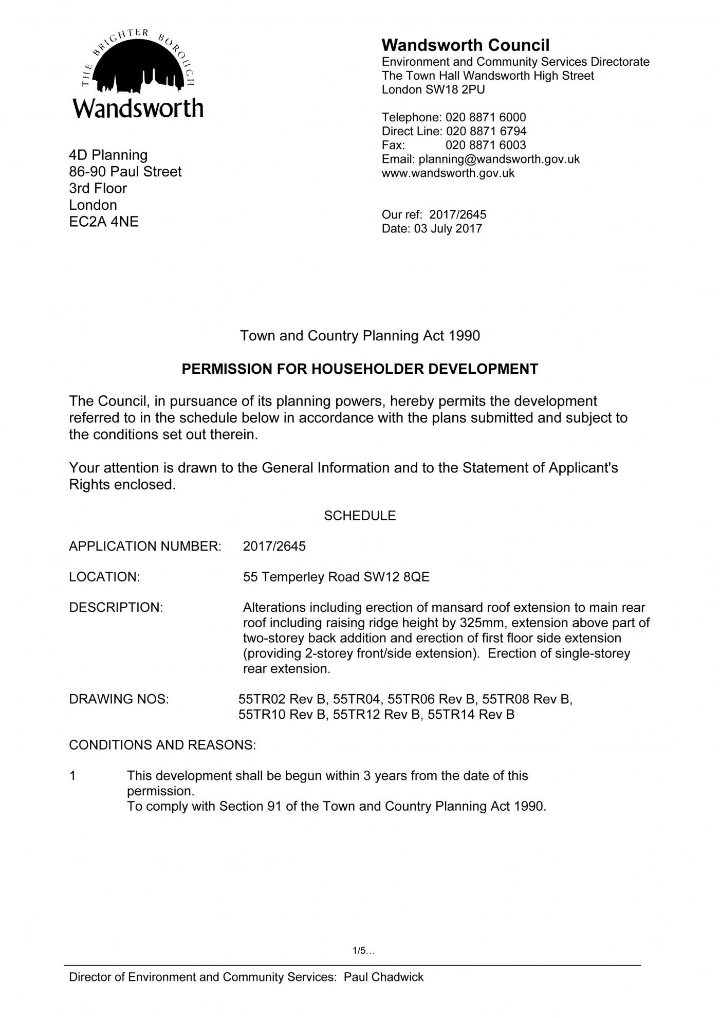 decision notice -  Wandsworth