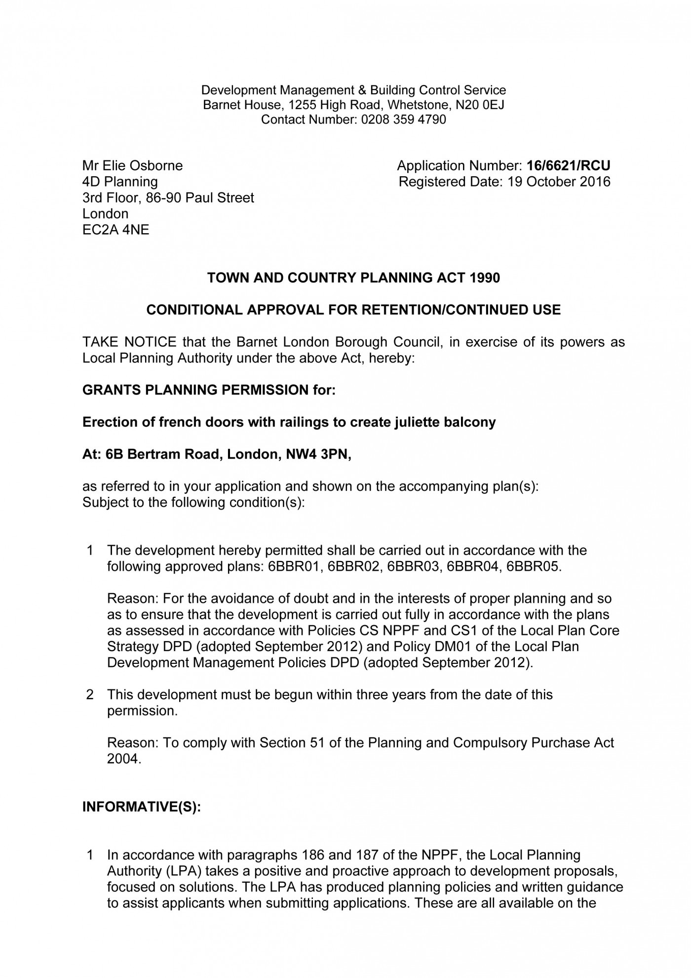 decision notice - Barnet Council