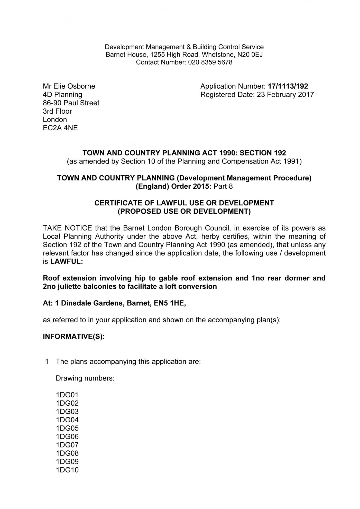 decision notice - Barnet Council