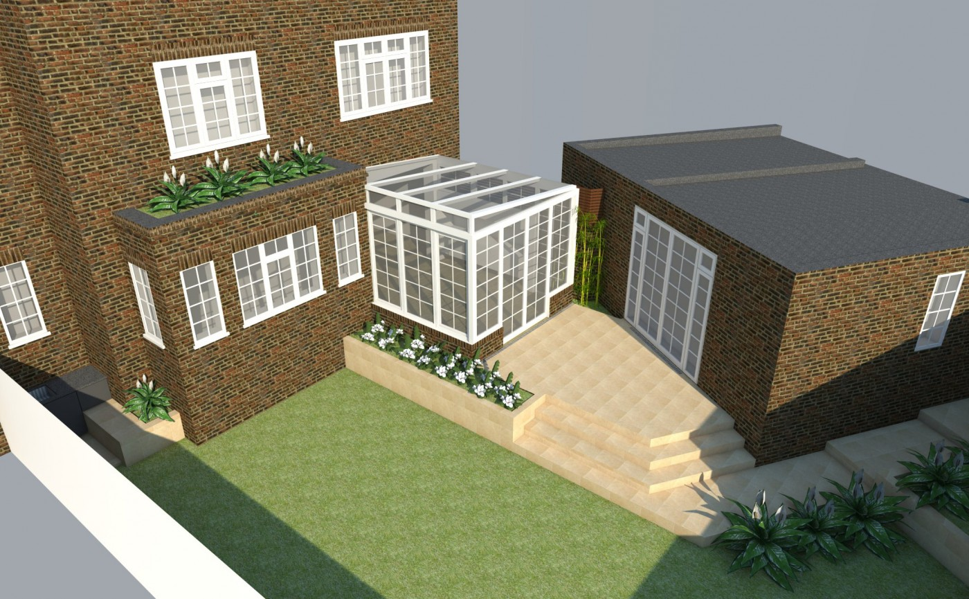 Rear Conservatory Garage Single Story Side Extension