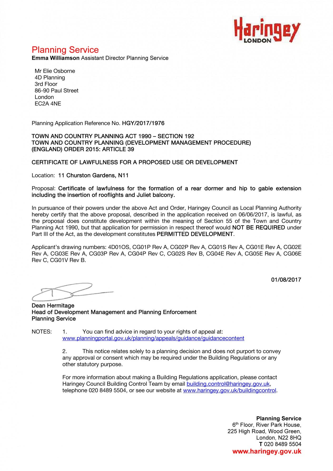decision notice - Haringey