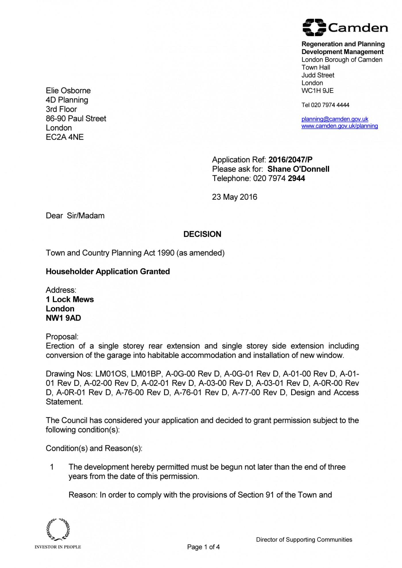 decision notice - Camden