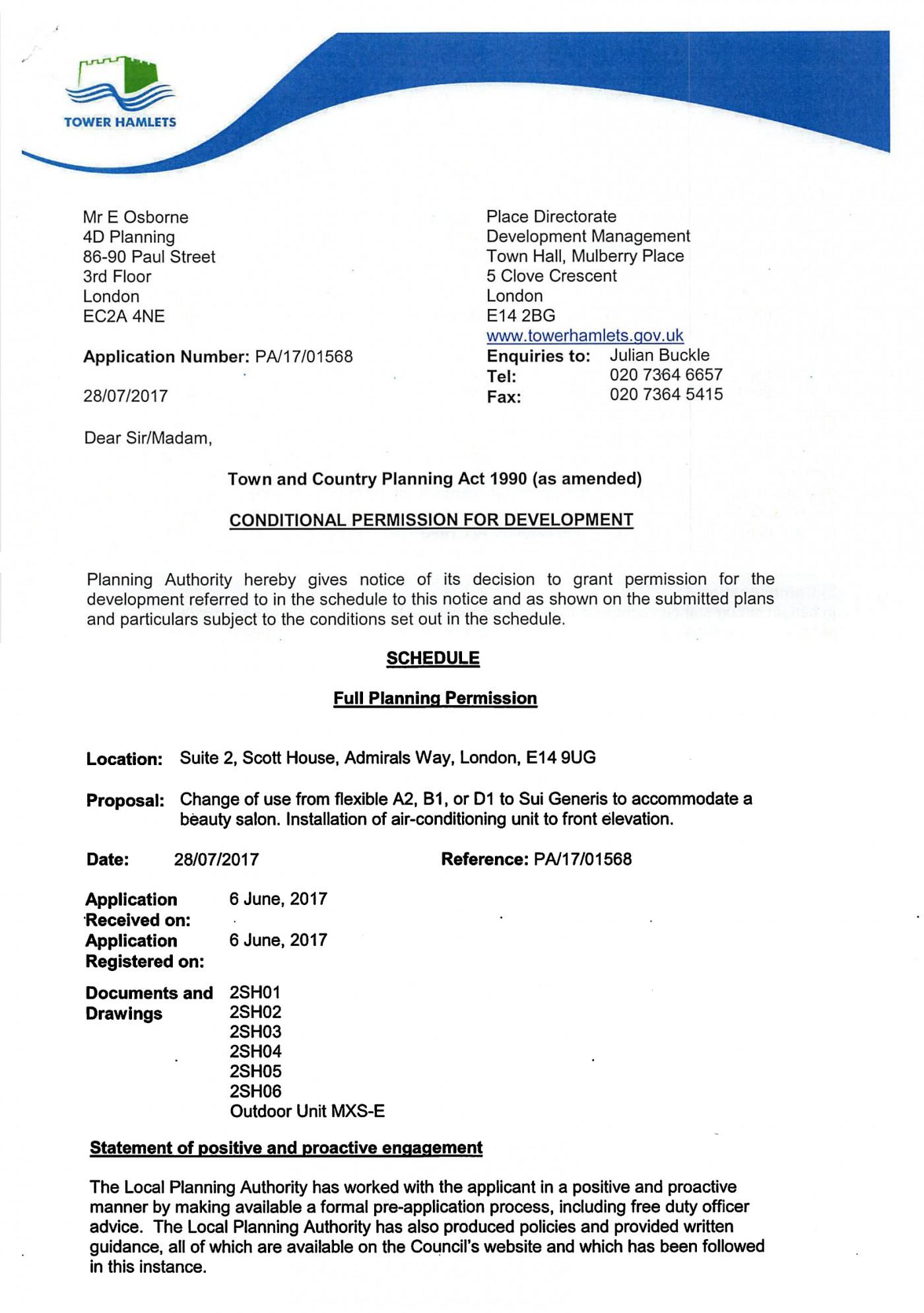 decision notice - Tower Hamlets Council