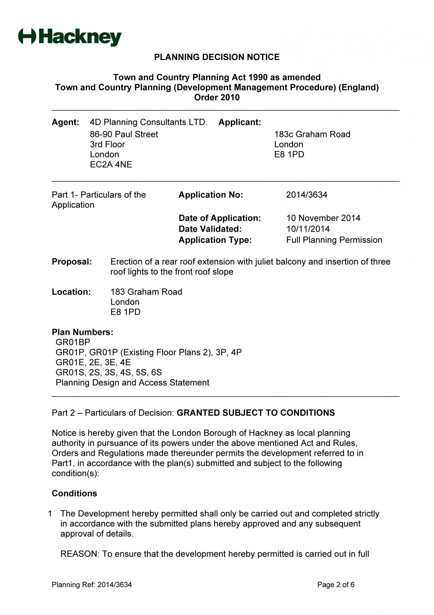 decision notice - Hackney Council