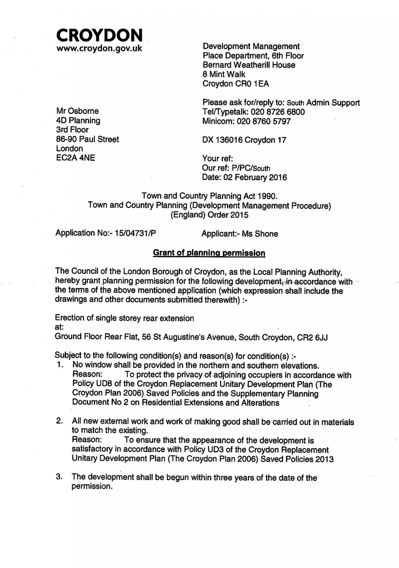 decision notice - Croydon