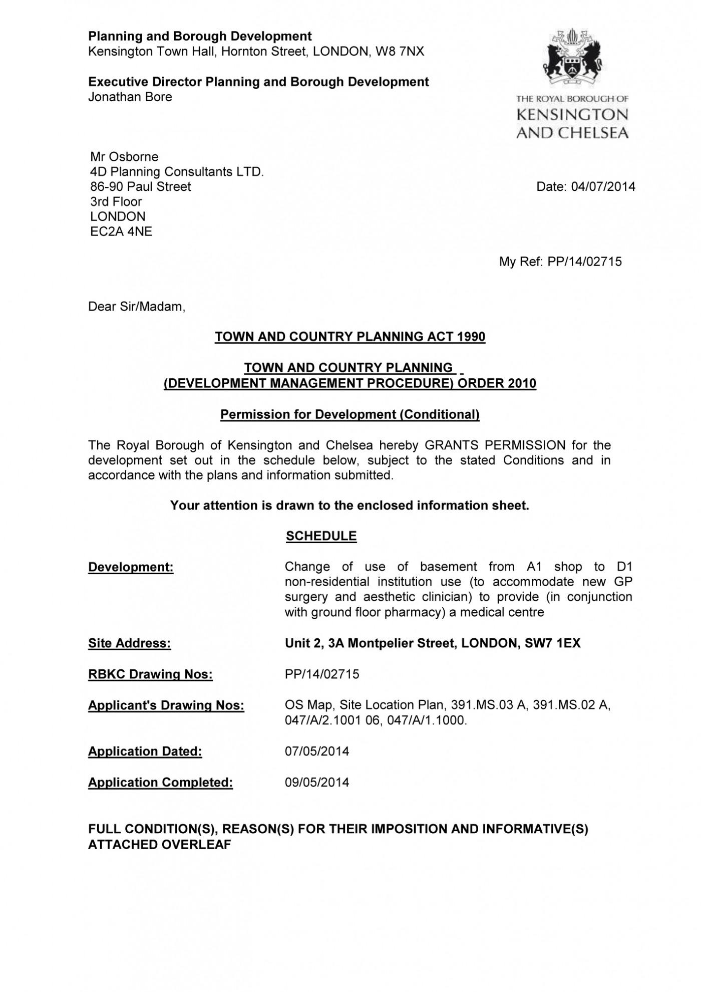 Decision notice - RBKC
