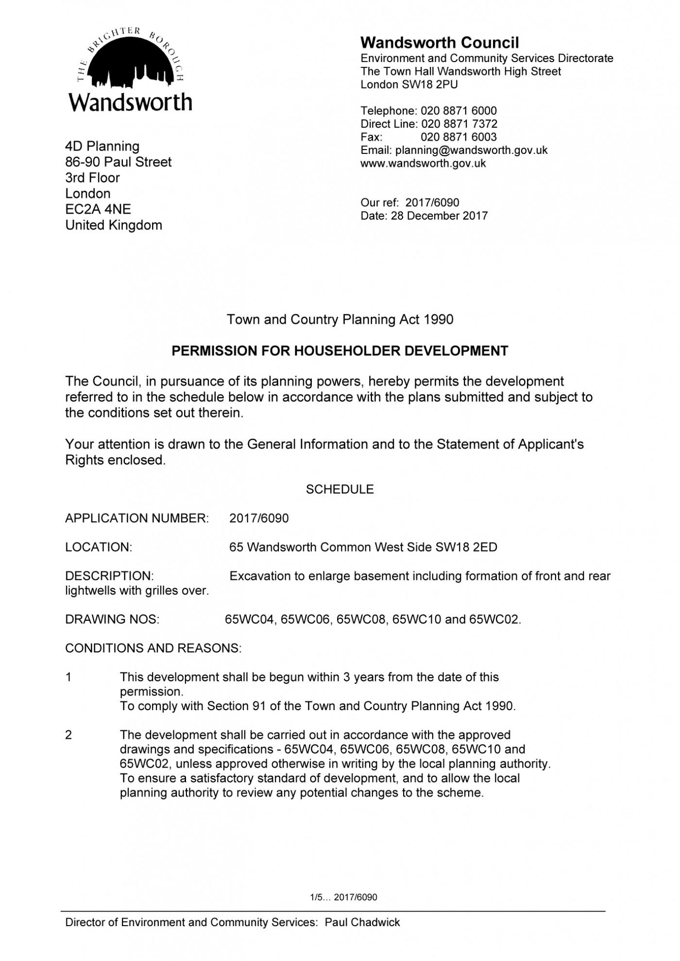 decision notice - Wandsworth Council