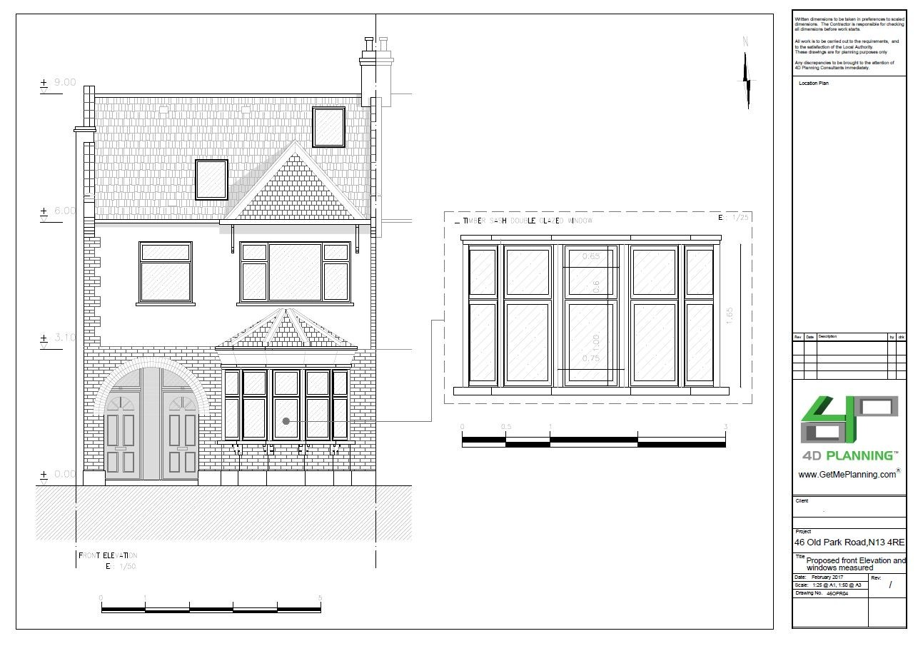 Produced The Drawings And Liaised With Window Company To Ensure That Specification Of Timber Double Glazed Windows Were Suitable