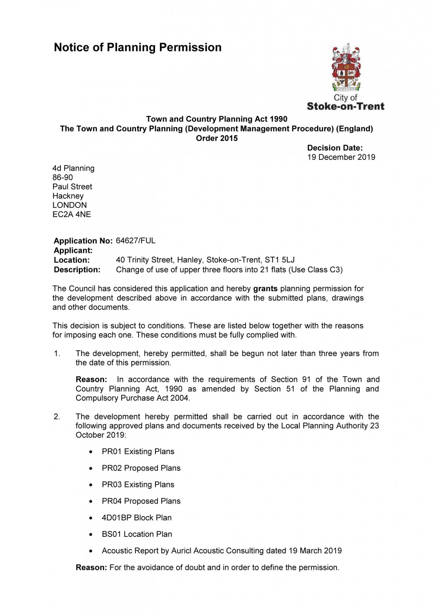 decision notice