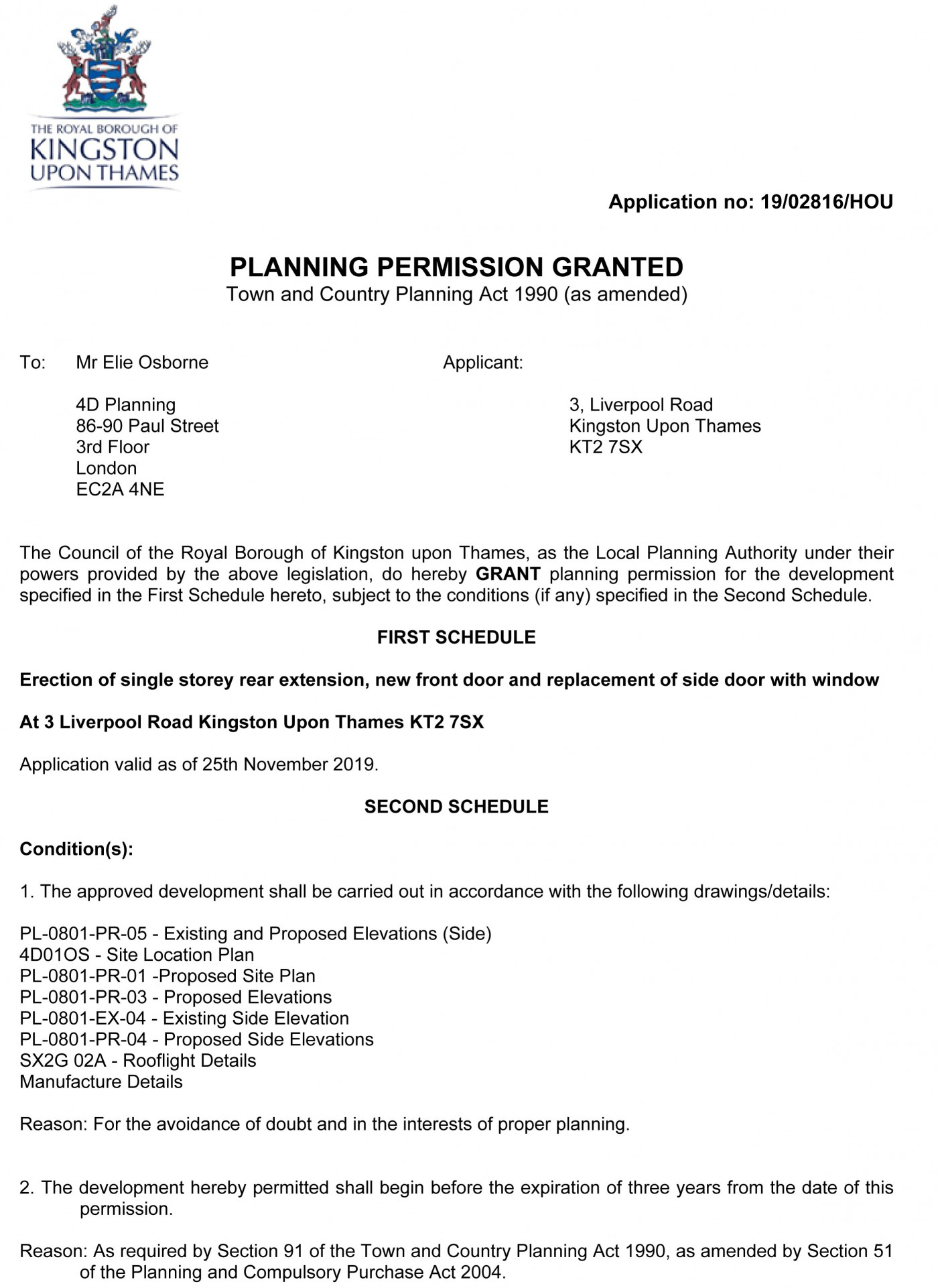 decision notice Kingston planning