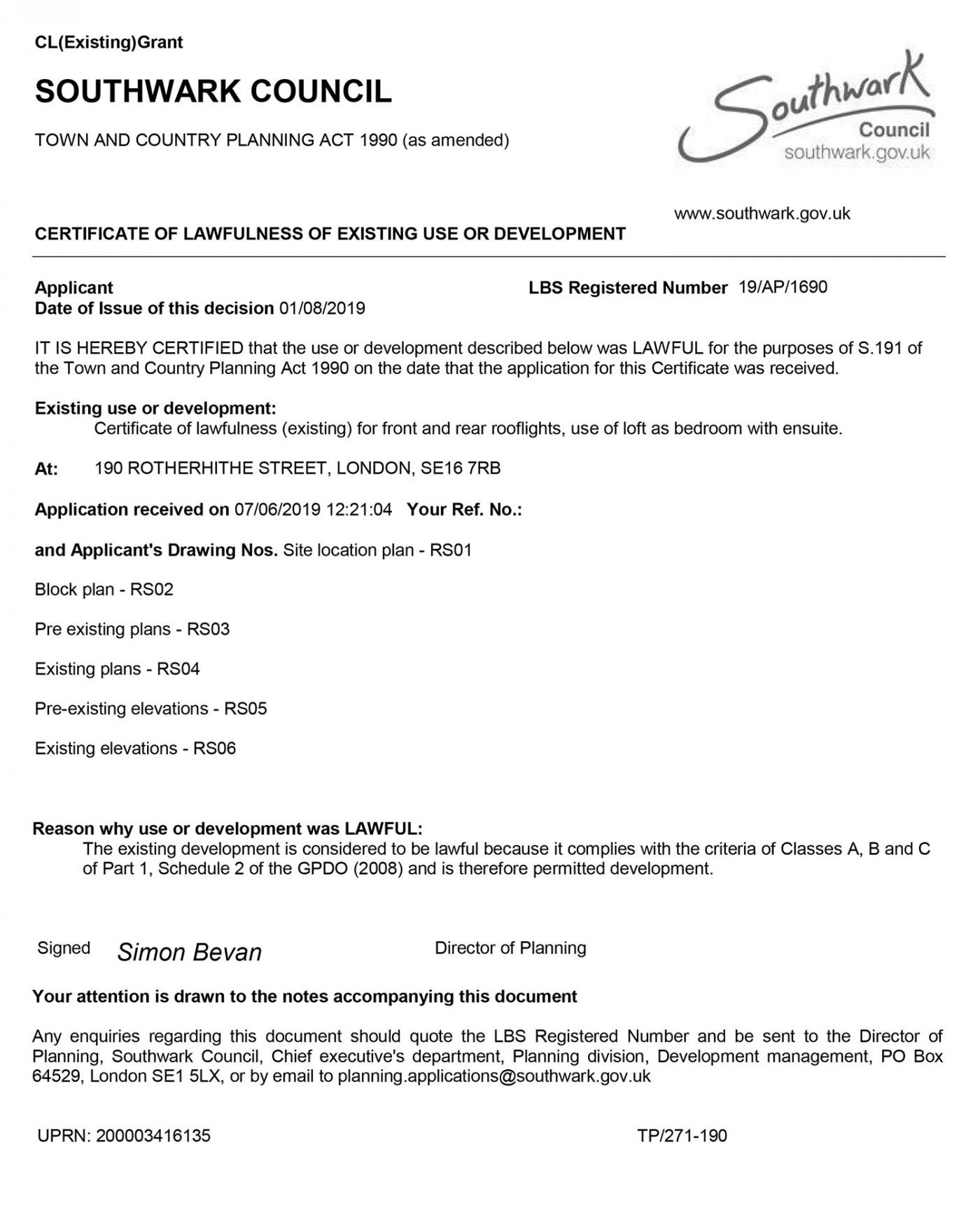 Approval Notice