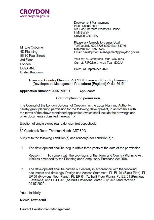 Decision Notice - Croydon Council