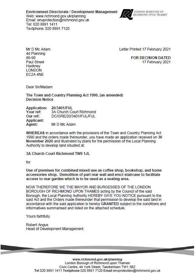 Decision Notice -  Richmond Council