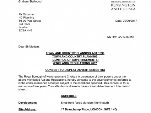 Decision notice - RBKC - ad consent