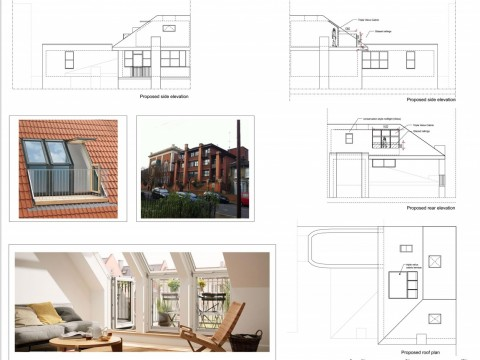drawings - Hackney Council - roof terrace - 1 - velux cabrio