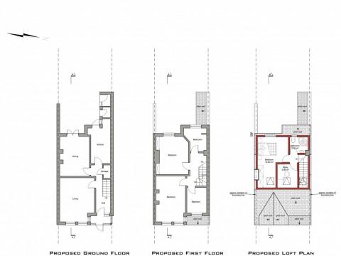 drawings - Barnet - lawful development certificate for loft conversion -1