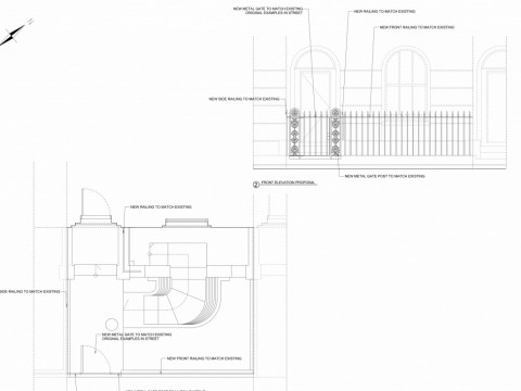 drawings of front garden - islington council