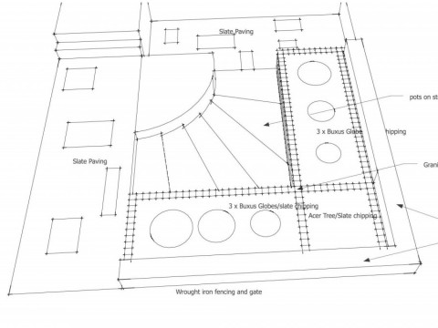 sketch of front garden - Islington Council
