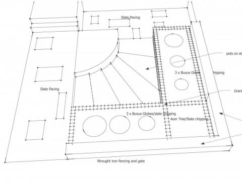 sketch of front garden - Islington Council