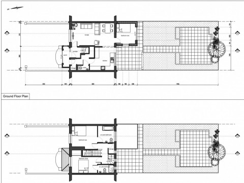 plans - drawings of single storey rear extension and rear dormer