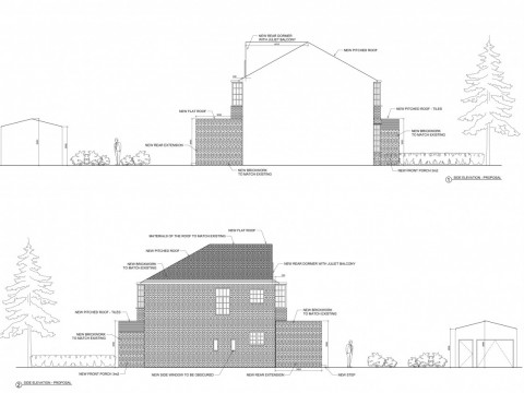 Proposed Side Elevations - Drawings