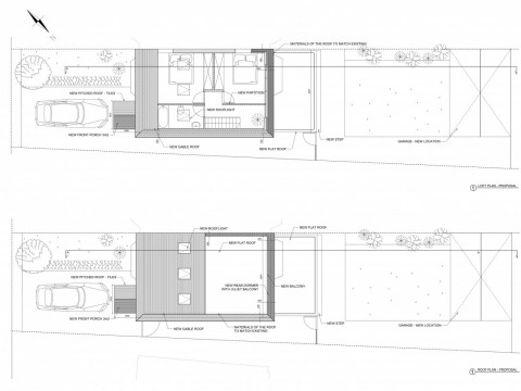Proposed loft and roof plan
