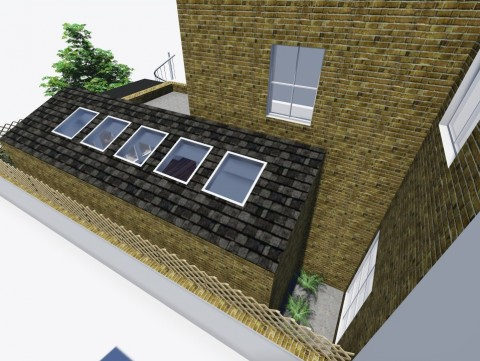 Single storey side infill extension to flat in Westminster