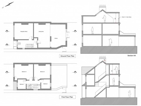 Proposed Floor Plans and Sections