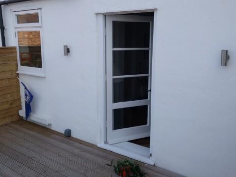 Access door to the roof terrace