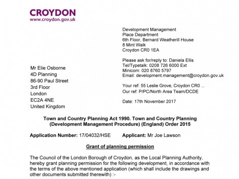 decision notice - single storey infill extension