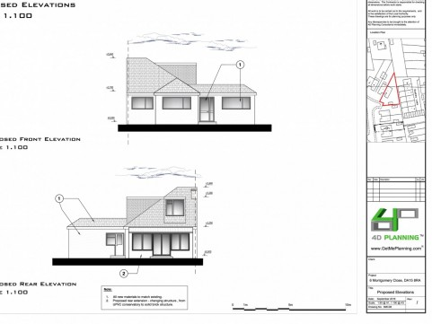 Proposed Front / Side Elevations