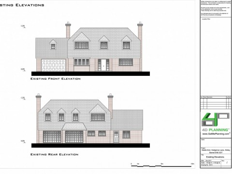 Existing Elevations - Architect Drawings