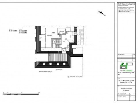 Proposed Architectural Drawings- Fourth Floor