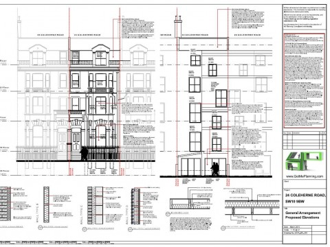 Proposed Architectural Drawings - Front / Rear Elevations