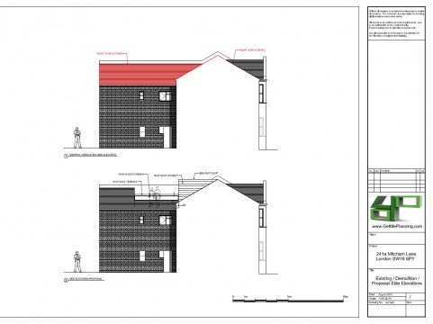 Proposed Architectural Drawings - Side Elevations
