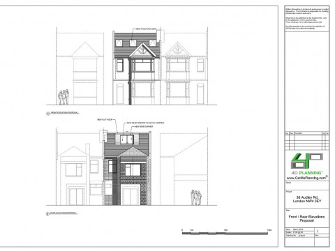Proposed Drawings - Front / Rear Elevations