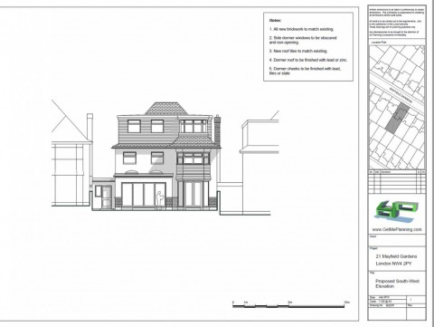 Proposed Drawings - Rear Elevation