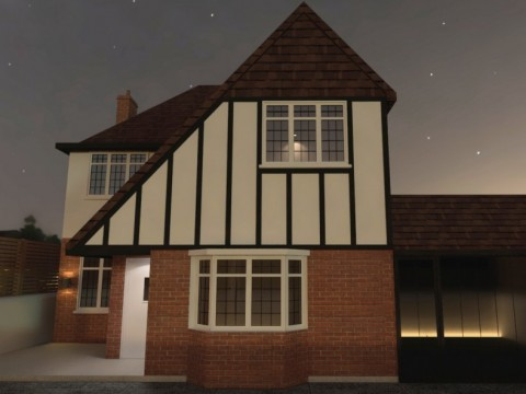 3D visuals for 2 storey rear extension