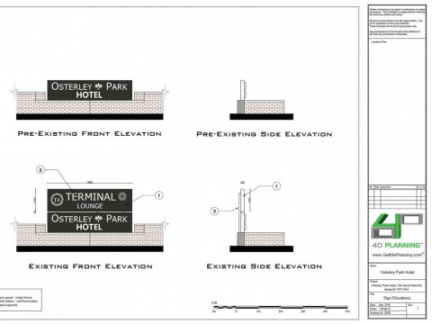 Proposed Drawings - Sign Elevations
