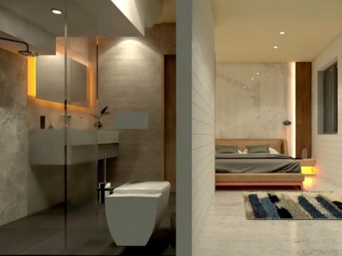 Internal render - ensuite bathroom
