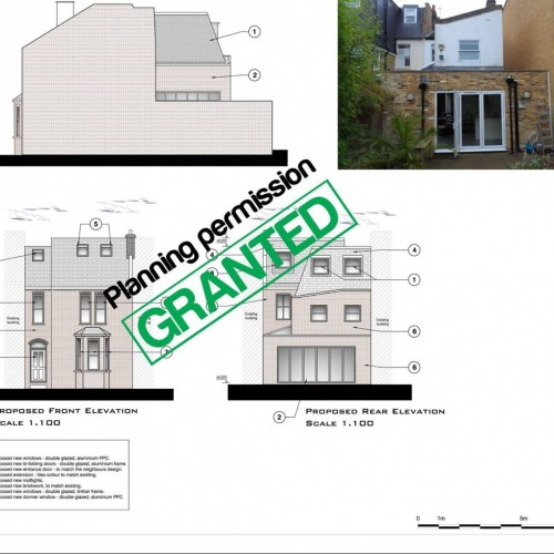 Planning permission GRANTED by Wandsworth Counci