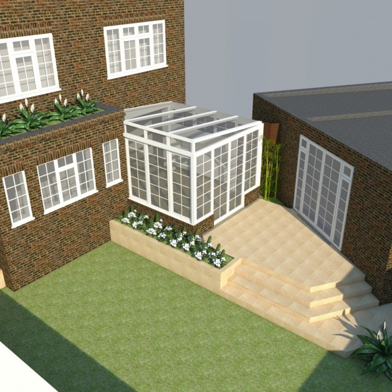 Rear conservatory, garage extension, single story side extension, alterations to front boundary wall