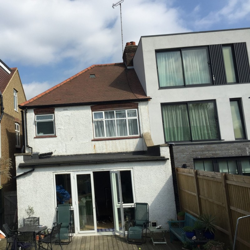 Roof extension with rear dormer window and Juliet balcony, Haringey