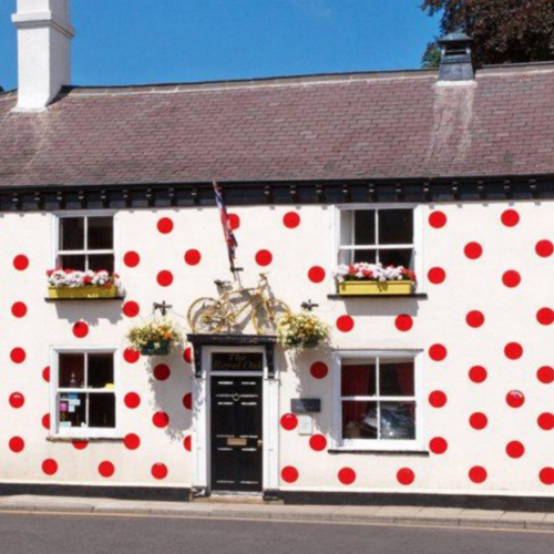 Spotty house, Yorkshire, UK
