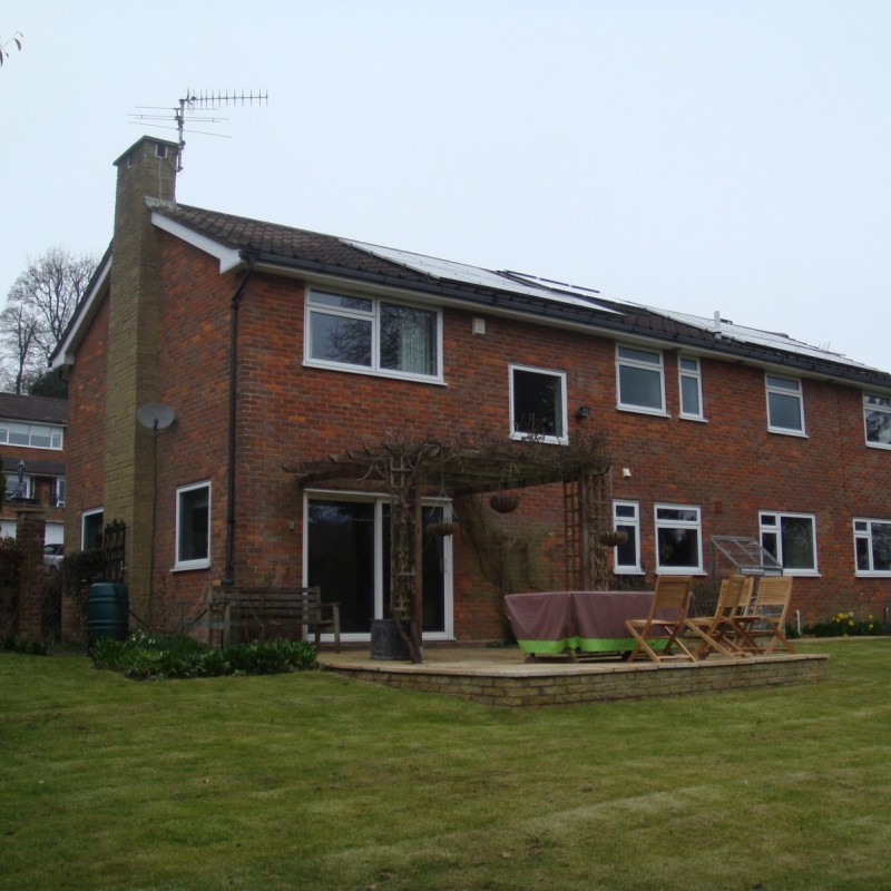 Double storey side extension, single storey rear extension