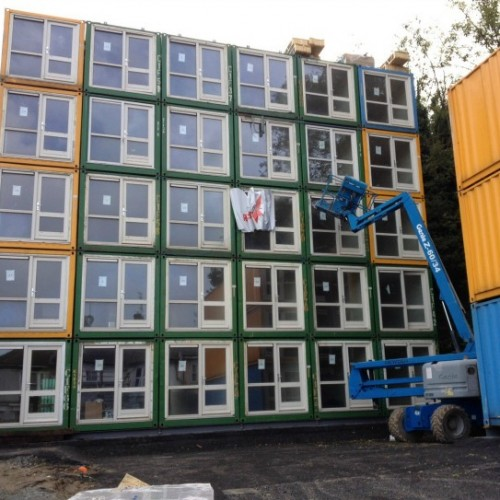 Brighton's Pioneer Shipping Container Development Houses the Homeless.