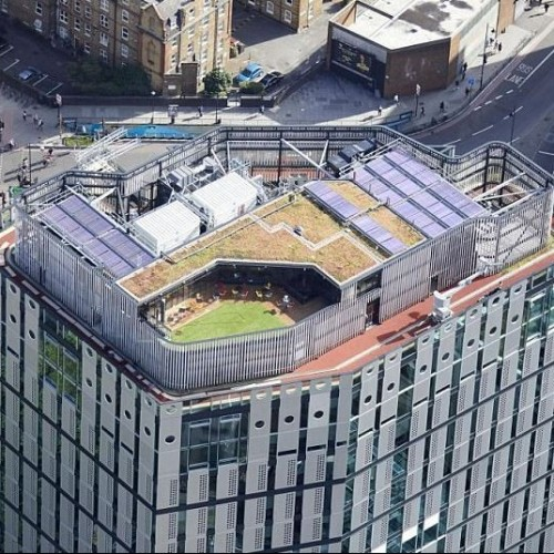 Office block is the first in London to unveil a rooftop running track.