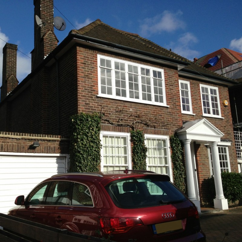 Double storey side extension, rear extension, new basement with terrace, roof extension