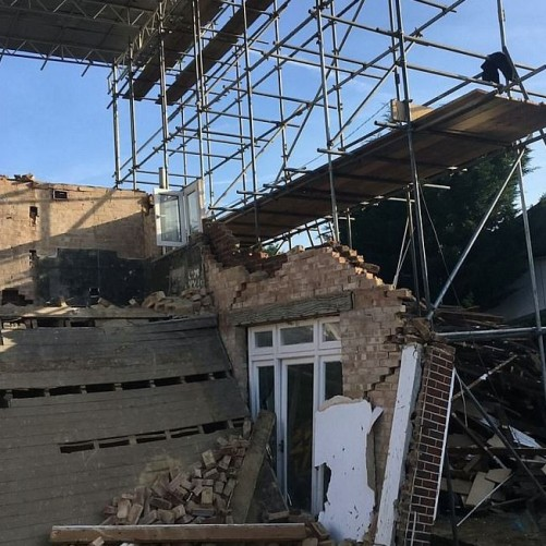 Wimbledon home collapses over night