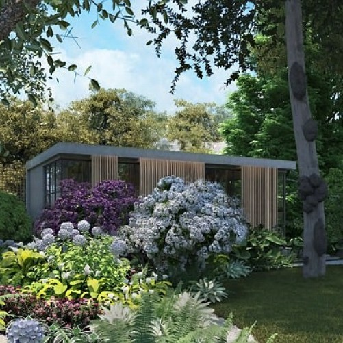 Robbie Williams plans for a giant garden shed on stilts